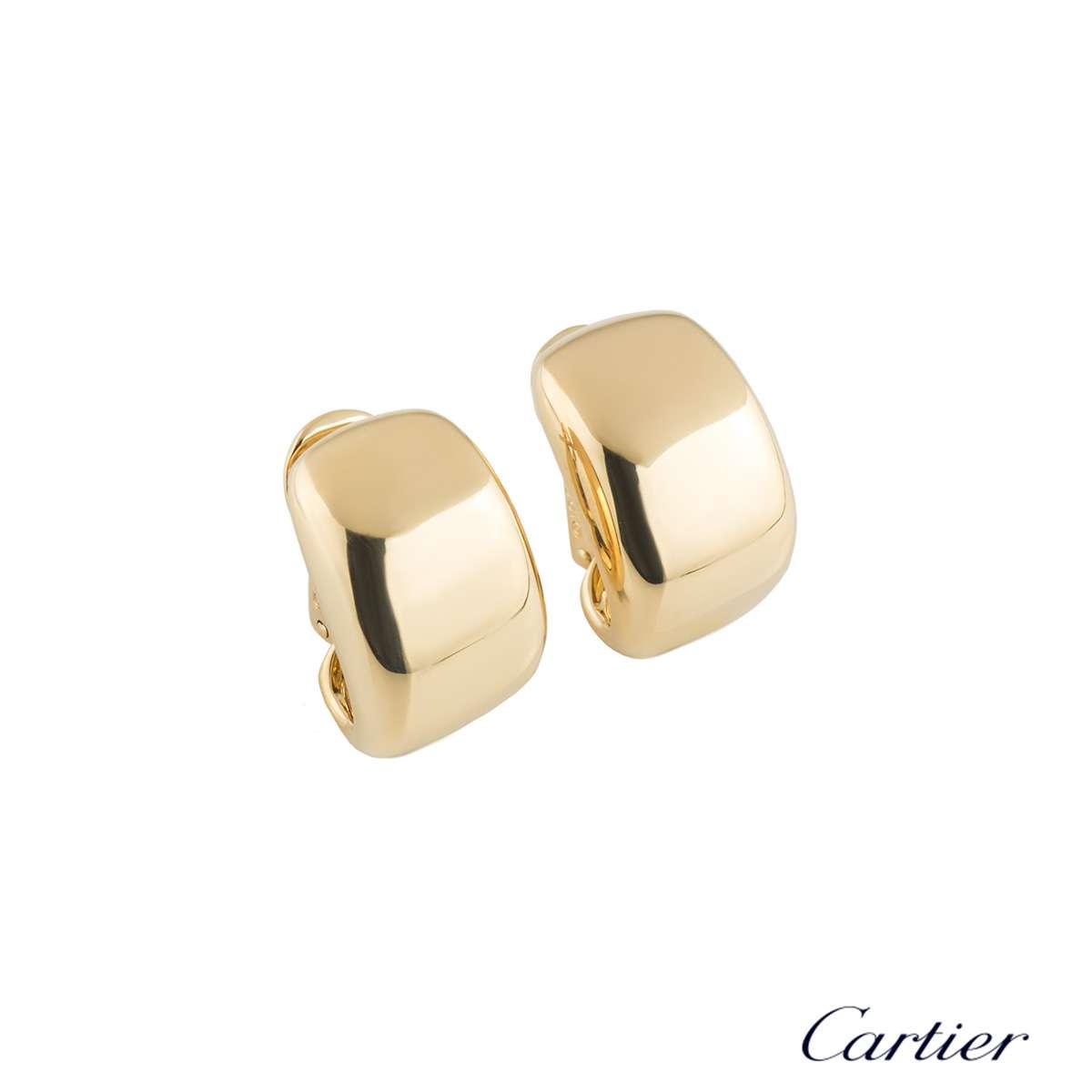 Cartier Yellow Gold Nouvelle Vague Earrings